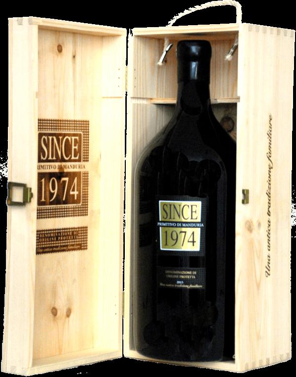 Raudonas sausas vynas SINCE 1974 PRIMITIVO DI MANDURIA D.O.P. DOUBLE MAGNUM.