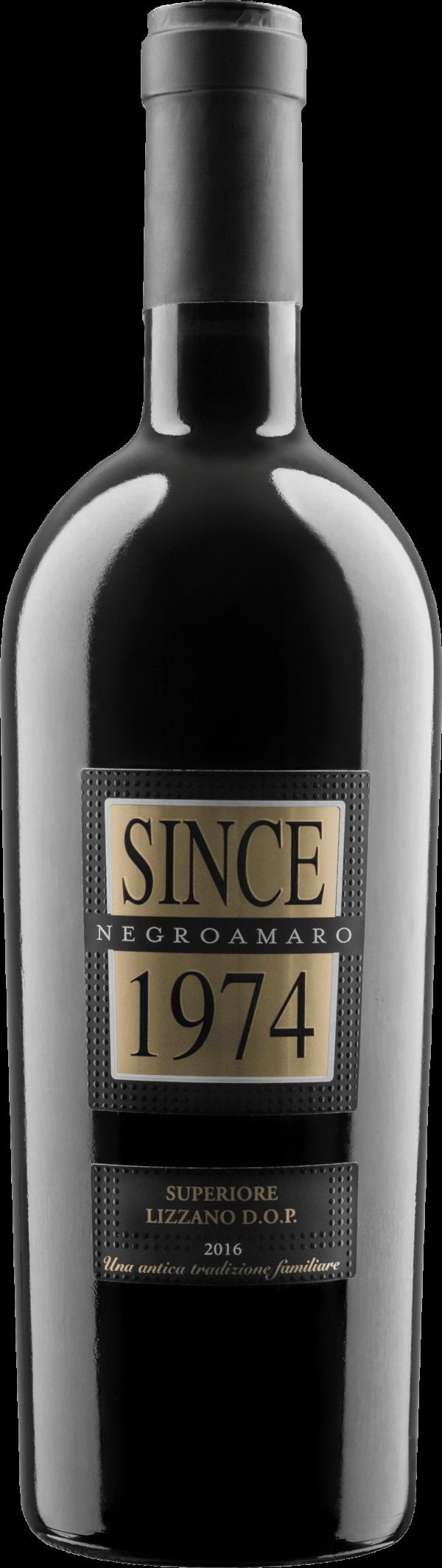 Raudonas sausas vynas SINCE 1974 Negroamaro Superiore D.O.P.