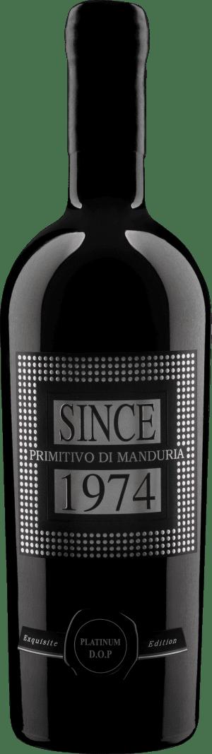 Raudonas sausas vynas SINCE 1974 Primitivo Di Manduria Limited Edition D.O.P.