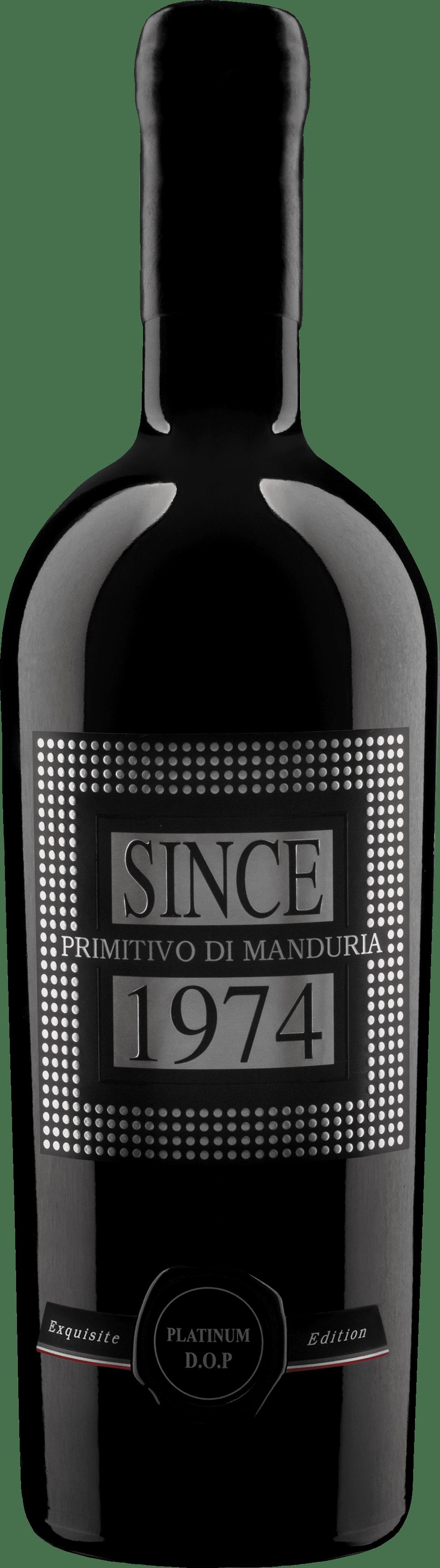 Raudonas sausas vynas SINCE 1974  Primitivo Di Manduria Limited Edition D.O.P. 0.75l