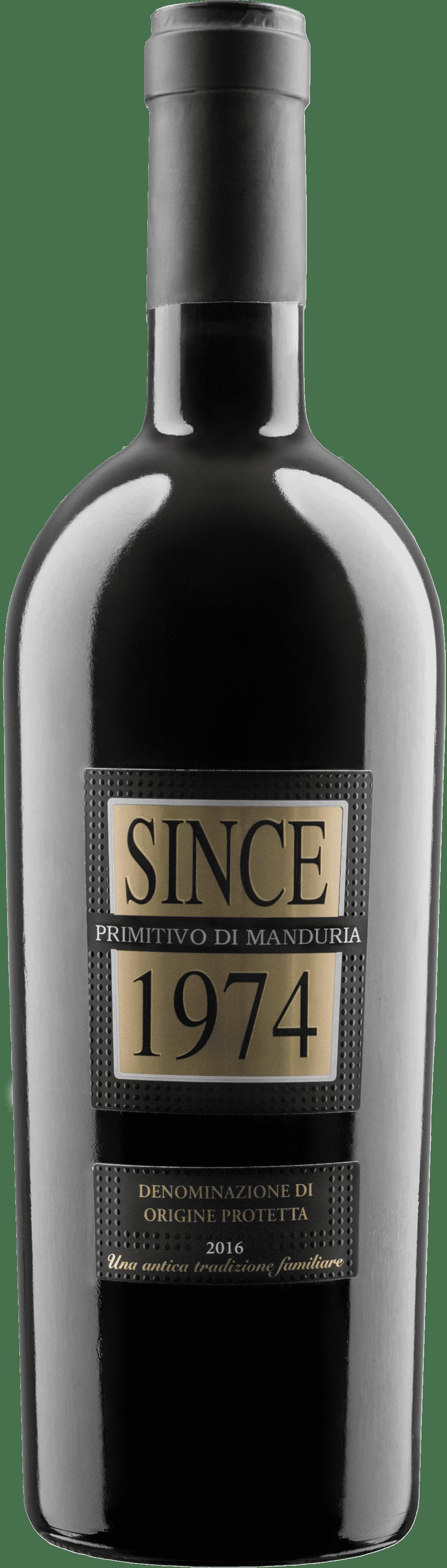 Sausas raudonas vynas SINCE 1974 Primitivo Di Manduria D.O.P.