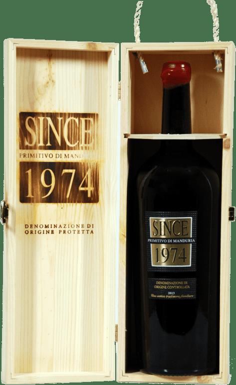 Raudonas sausas vynas SINCE 1974 PRIMITIVO DI MANDURIA D.O.P. MAGNUM