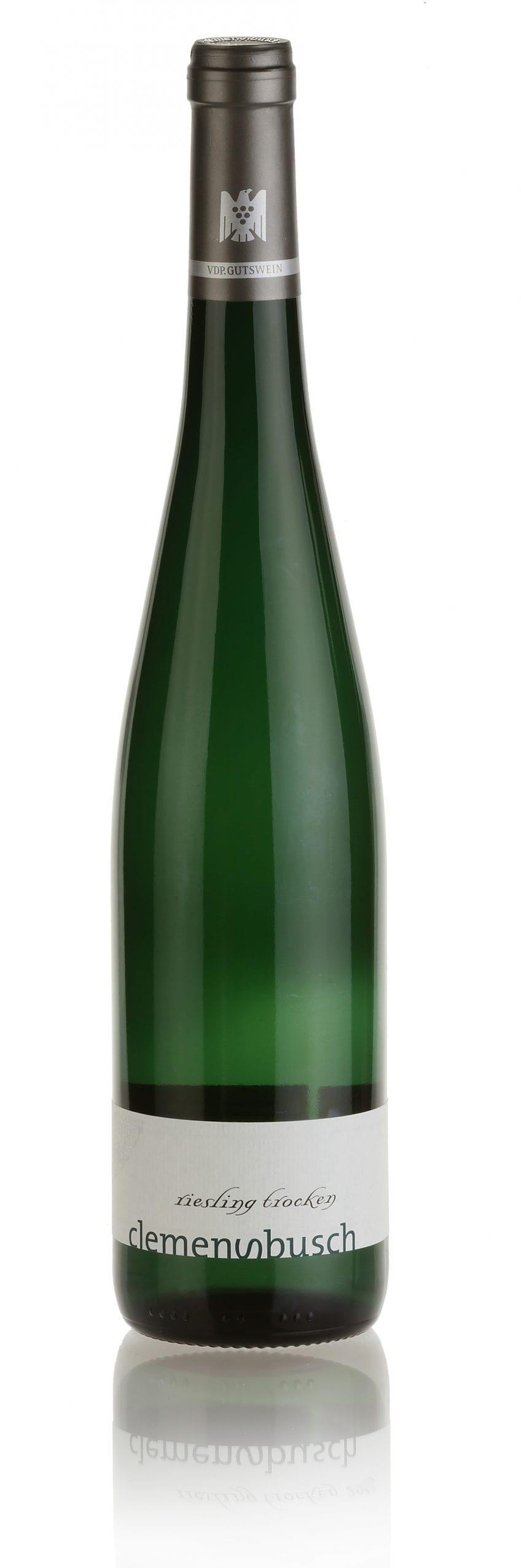 Baltas sausas vynas CLEMENS BUSCH RIESLING TROCKEN 2018 0,75L.